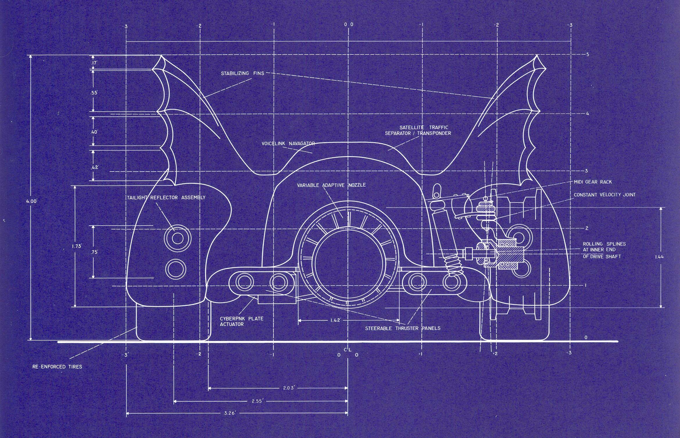 Batman online gallery batmobile blueprints 2 from for Print blueprints online
