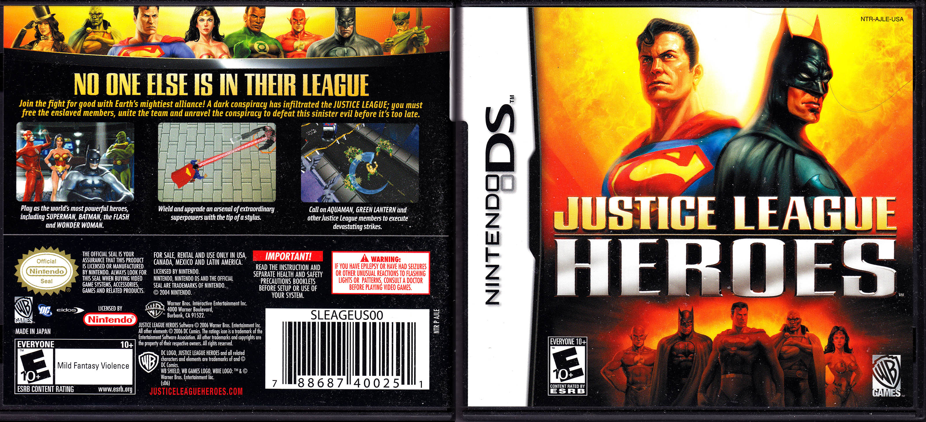 justice league heroes ds